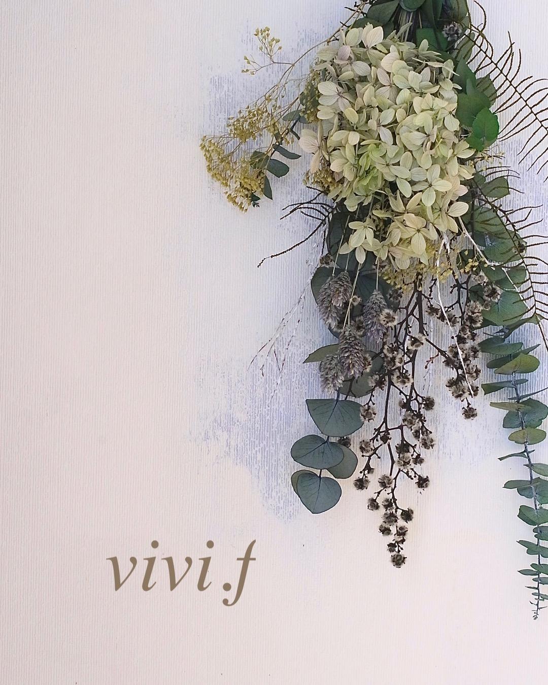 プリザーブドフラワースワッグvivi.f北九州
