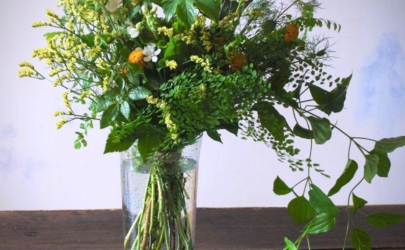 グリーンいっぱいの花束-2