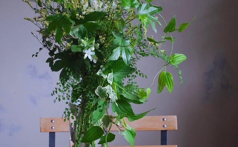 グリーンいっぱいの花束-4
