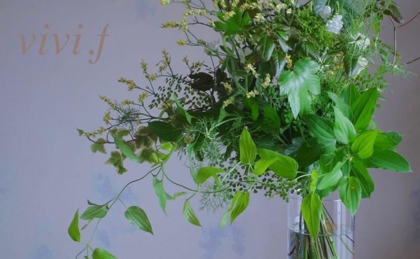 グリーンいっぱいの花束-5