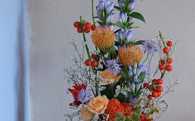 秋の花フラワーアレンジメント